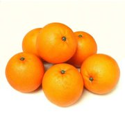 ALEKO 6AFORG Decorative Realistic Artificial Fruits, Set of 6 Oranges