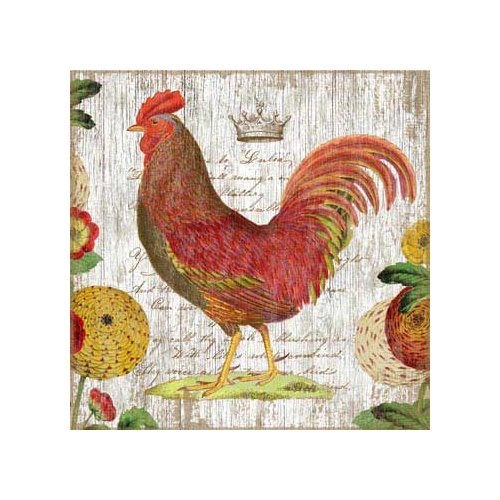 August Grove Rooster 2 by Graphic Art Plaque