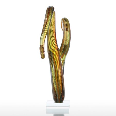 Tooarts Surround Glass Sculpture Home Decor Abstract Ornament Gift Craft Decoration - image 5 of 7