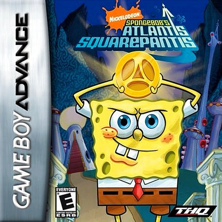 SpongeBob's Atlantis SquarePantis - Nintendo Gameboy Advance GBA (Gameboy Advance Sp Play Gameboy Color Games)