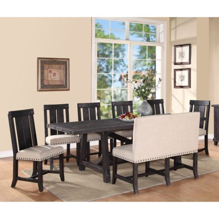 Tasteful Modus Modus Yosemite 8 Rectangular Dining Table Set Wood Chairs Settee Recommended Item