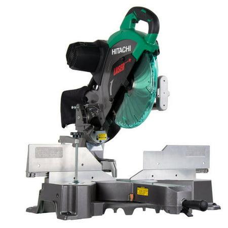 Hitachi C12Rsh2 15 Amp 12-Inch Dual Bevel Sliding Compound Miter Saw With Laser