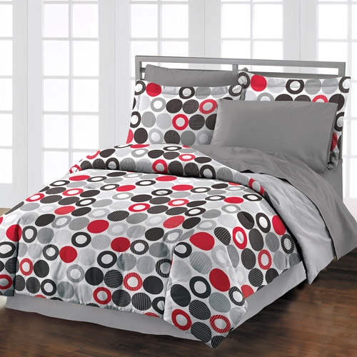 Style Lounge Reinforcements Comforter Set, Gray/Multi
