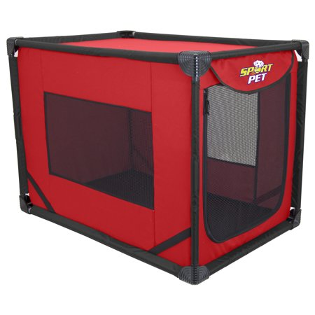 - SportPet Pop-Open Kennel Travel Dog Crate ( For Kennel Trained Pet Only )
