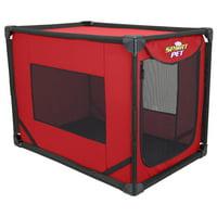 SportPet Indoor/Outdoor Portable Dog Kennel, Large, Red