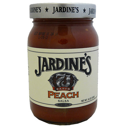 Jardine's 7J Ranch Prairie Peach Salsa, 16 oz (Pack of 6)