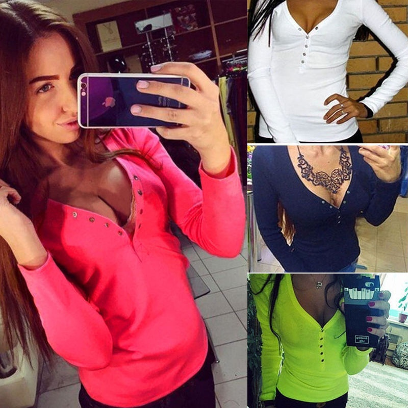 Fashion New Womens Ladys V Neck Long Sleeve Knitted Pullover Jumper Sweater Knitwear Top Blouse 4 Colors