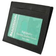 Premium High quality Black Genuine Leather Slim Simple ID Credit Card Holder Thin Wallet