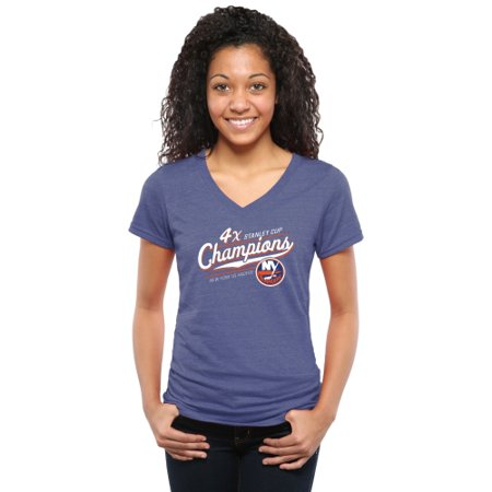 low cost retail prices best sneakers New York Islanders Women's Vindicator Tri-Blend V-Neck T-Shirt ...