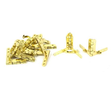 Vin bijoux Coffret bois bo te charnière Quadrant occultables 43x39mm 15Pcs Doré - image 1 de 1