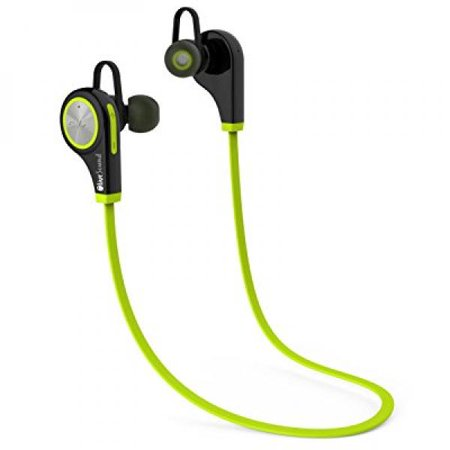 OliveSound Bluetooth Earbuds Headphones Wireless Stereo Noise Cancelling Sweatproof with Mic for iPhone 7 Samsung Galaxy S7 and Android Phones with Protective Storage Zipper