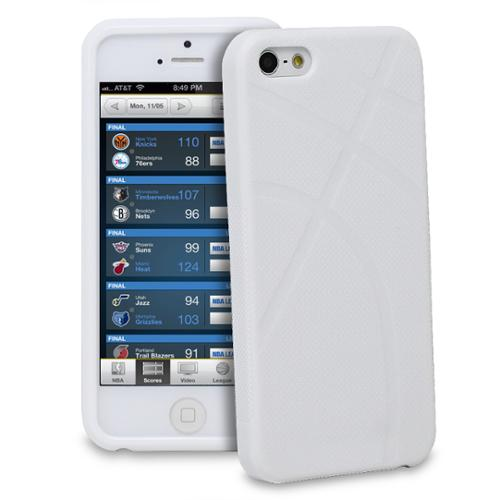 GreatShield White March Madness Basketball Apple iPhone 5/5s/SE Sports Design TPU Case Cover