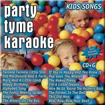 Party Tyme Karaoke: Kids Songs (CD) Birthday Party Songs Cd