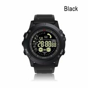 Fitness Tracker Smart Watch Outdoor Sports 5ATM/IP67 Waterproof Call Information Reminder Bluetooth Connection Long Standby Time Smart APP Control for IOS and Android Black