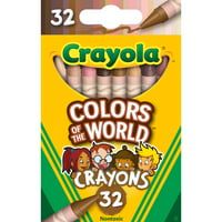 Deals on Crayola Crayons 32 Pack, Colors of the World