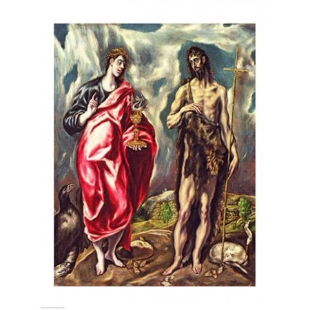 St John the Evangelist and St John the Baptist Canvas Art -...