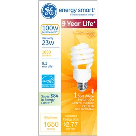 14w Mini Twist - G E Lighting 42111 23-Watt Mini Twist CFL Bulb
