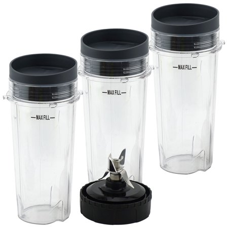 33 Extractor (3 Pack 16 oz Cups with Lids and Extractor Blade for Nutri Ninja BL770 BL771 BL772 BL773CO BL780 BL810 BL820 BL830)