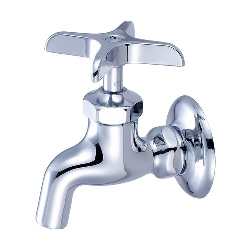 Central Brass Wall Mounted Sink Faucet with Single Cross Handle