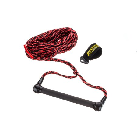 Marine Tow Rope - Seachoice 86621 Tournament Ski Tow Rope, 16-Strand 5/16-inch Diameter, 12-Inch Soft Grip Handle, 75 Feet Long