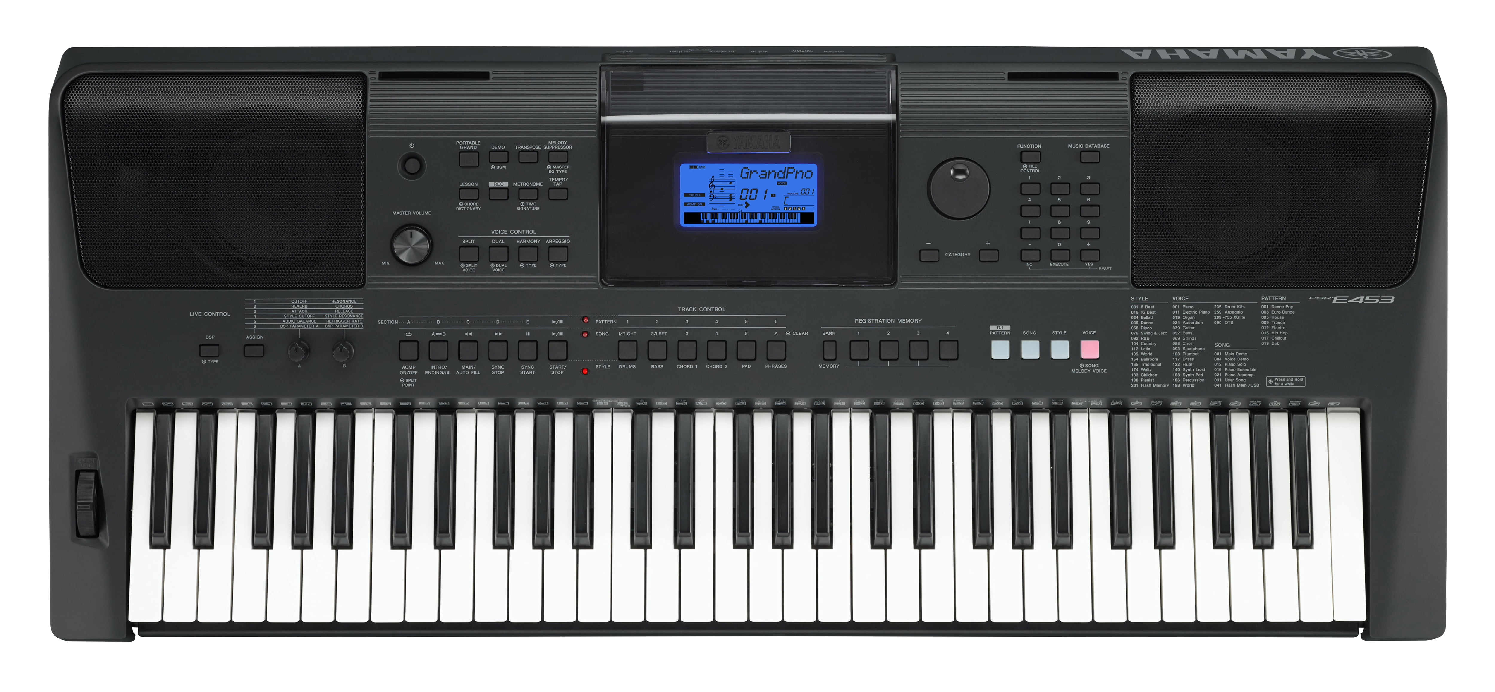 Yamaha PSRE453 61-Key Portable Keyboard by Yamaha