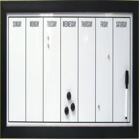 DesignOvation Magnetic Dry Erase Board Weekly Calendar