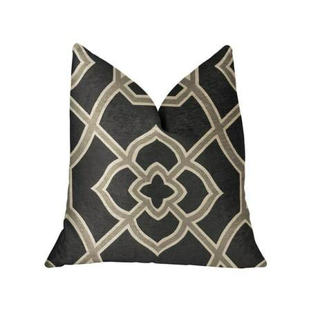 Plutus PBRA2252-2026-DP Terra Bell Black & Beige Luxury Throw Pillow, 20 x 26 in. Standard - image 3 de 3