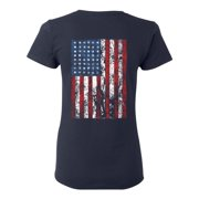 Awkward Styles Flag Women Shirt Memorial Day Pro America Flag T shirt for Her Stripes and Stars American Flag Gifts Pro America Lovers T shirt for Women USA Flag Gifts USA Print on the Back Only