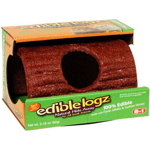 Wild Harvest Edible Logz Hide Away Treat for Small Animals, 3.18 oz