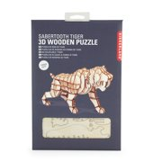 Sabertooth Tiger 3D Wooden Puzzle by, Wooden Puzzle By Kikkerland