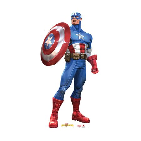 Advanced Graphics 2150 Captain America  Marvel Contest Of Champions Game    74   X 37   Cardboard Standup