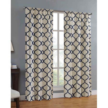Mainstays Canvas Ironwork Curtain Panel ()