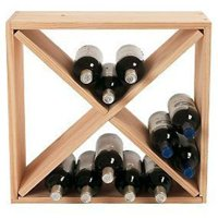 Wine Enthusiast 24-Bottle Compact Cellar Cube Wine Rack, Natural