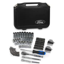 """Ford Motor Company FMCFHT0459 128 Pc 1/4"""" & 3/8"""" Socket Set"""