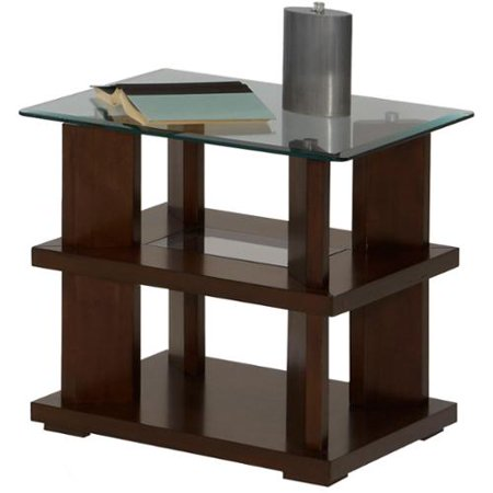 Progressive delfino burnished cherry rectangular end table for 10 wide end table