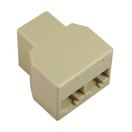 insten rj45 1x2 ethernet connector splitter light beige. Black Bedroom Furniture Sets. Home Design Ideas