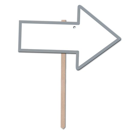 (Pack of 6) Blank'' Arrow Yard Sign