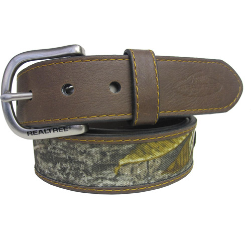 Realtree Belt with Camo Insert, Brown