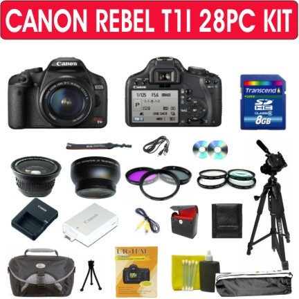 EOS Rebel T1i (500D) Digital SLR Kit w/EF-S 18-55mm f/3.5-5.6 IS Lens