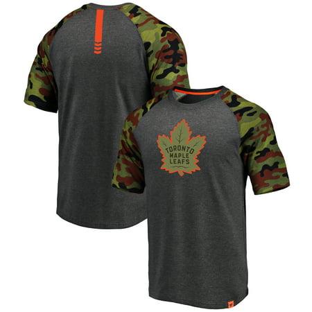 0c938372d Fanatics Branded - Toronto Maple Leafs Fanatics Branded Recon Camo Raglan T- Shirt - Heathered Gray Camo - Walmart.com