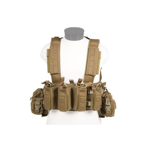 Tactical Assault Gear Intrepid Chest Rig w/Grenade & Mag Pouches - Coyote Tan IC