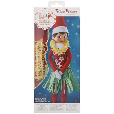 Elf on the Shelf Claus Couture Holiday Hula WearImitation grass elf skirt By The Elf on the