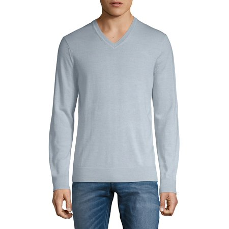 - V-Neck Merino Wool Sweater