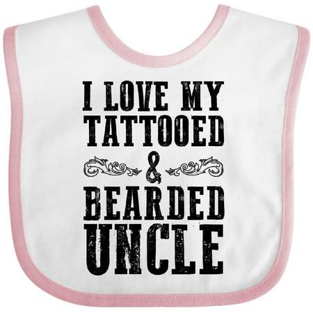 c35c5364a Inktastic - Inktastic I Love My Tattooed & Bearded Uncle Baby Bib Men  Beards Tattoos Beard Toddler Youth Tattoo Gift For Clothing Infant -  Walmart.com