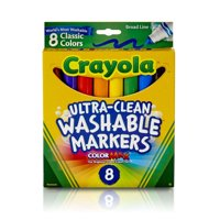 Crayola Washable Markers, Broad Line Classic Colors 8-Count