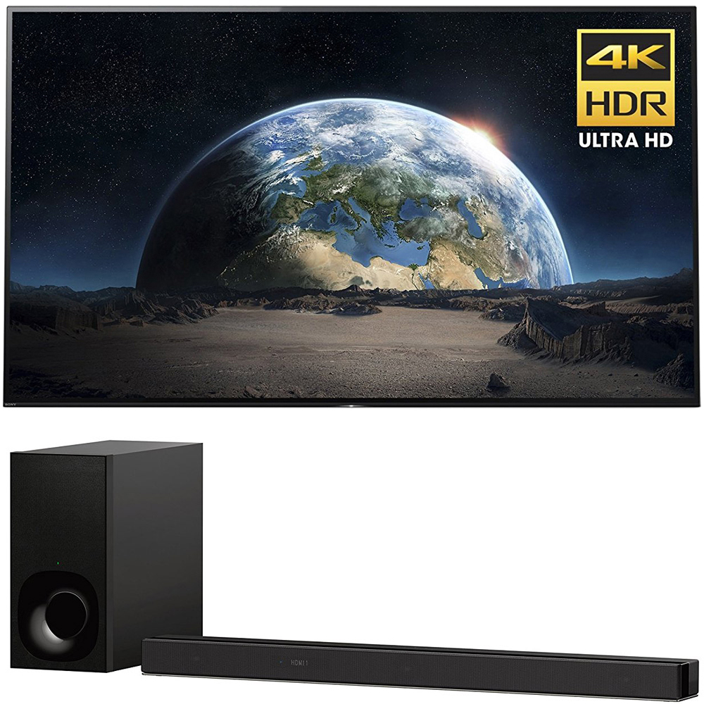 """Sony 77"""" Class 4K Ultra HD (2160P) HDR Android Smart OLED TV (XBR77A1E) with Sony 3.1ch Soundbar with Dolby Atmos"""