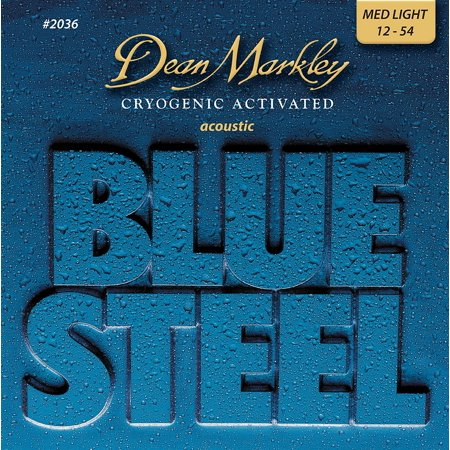 Dean Markley Blue Steel Acoustic Guitar Strings, Medium Light, (Dean Markley Sr2000 Bass)