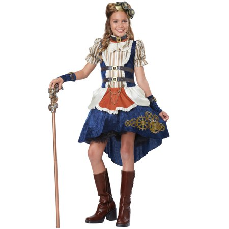 Steampunk Fashion Girl Tween Costume](Tween Waters Halloween Party 2017)