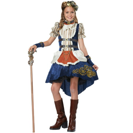 Steampunk Fashion Girl Tween Costume - Queen Of Hearts Costume For Tweens