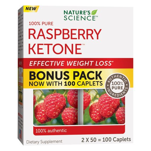 Nature's Science Raspberry Ketone Dietary Supplement Caplets, 100 count -  Walmart.com